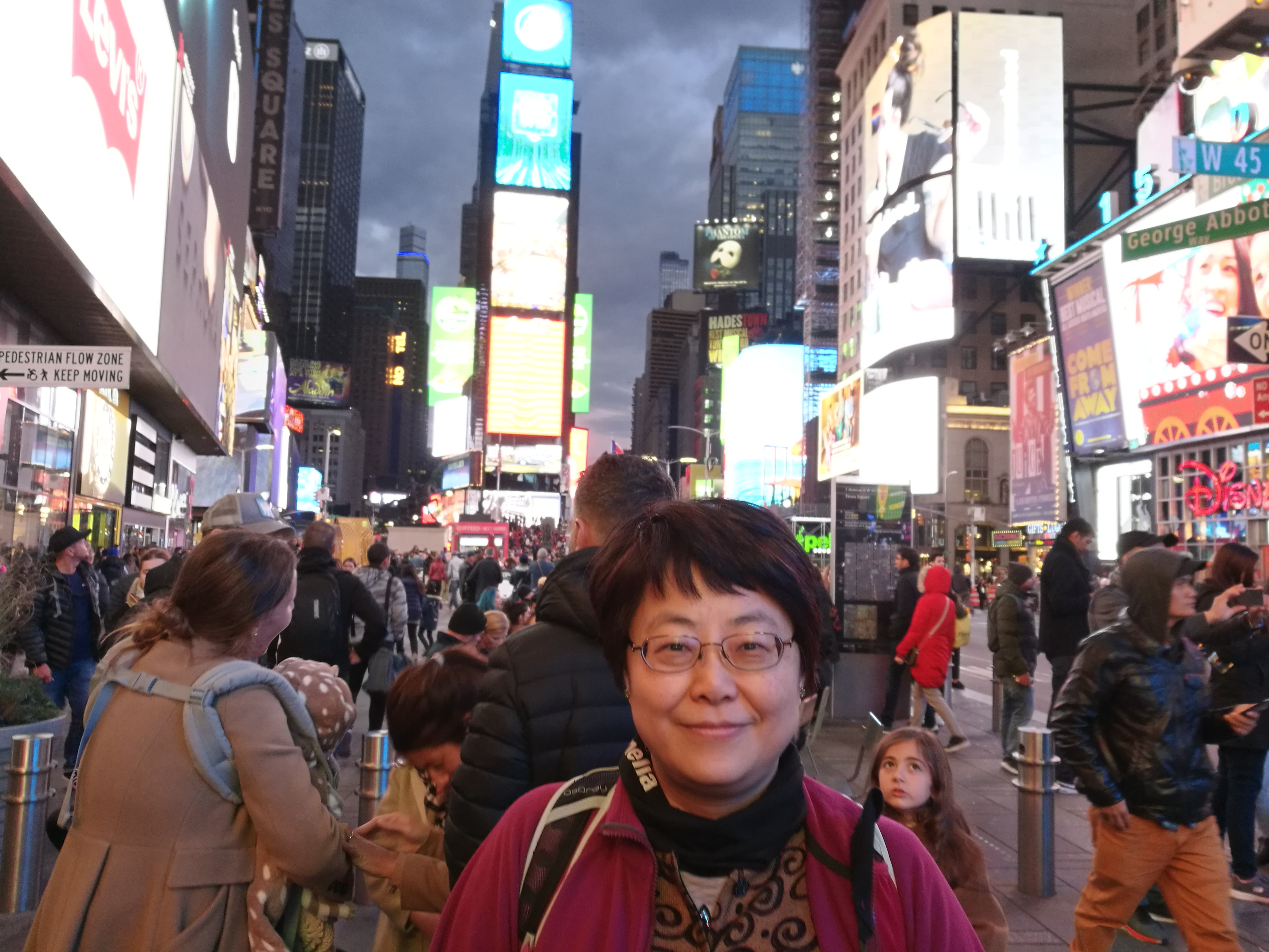 Me at Time Square